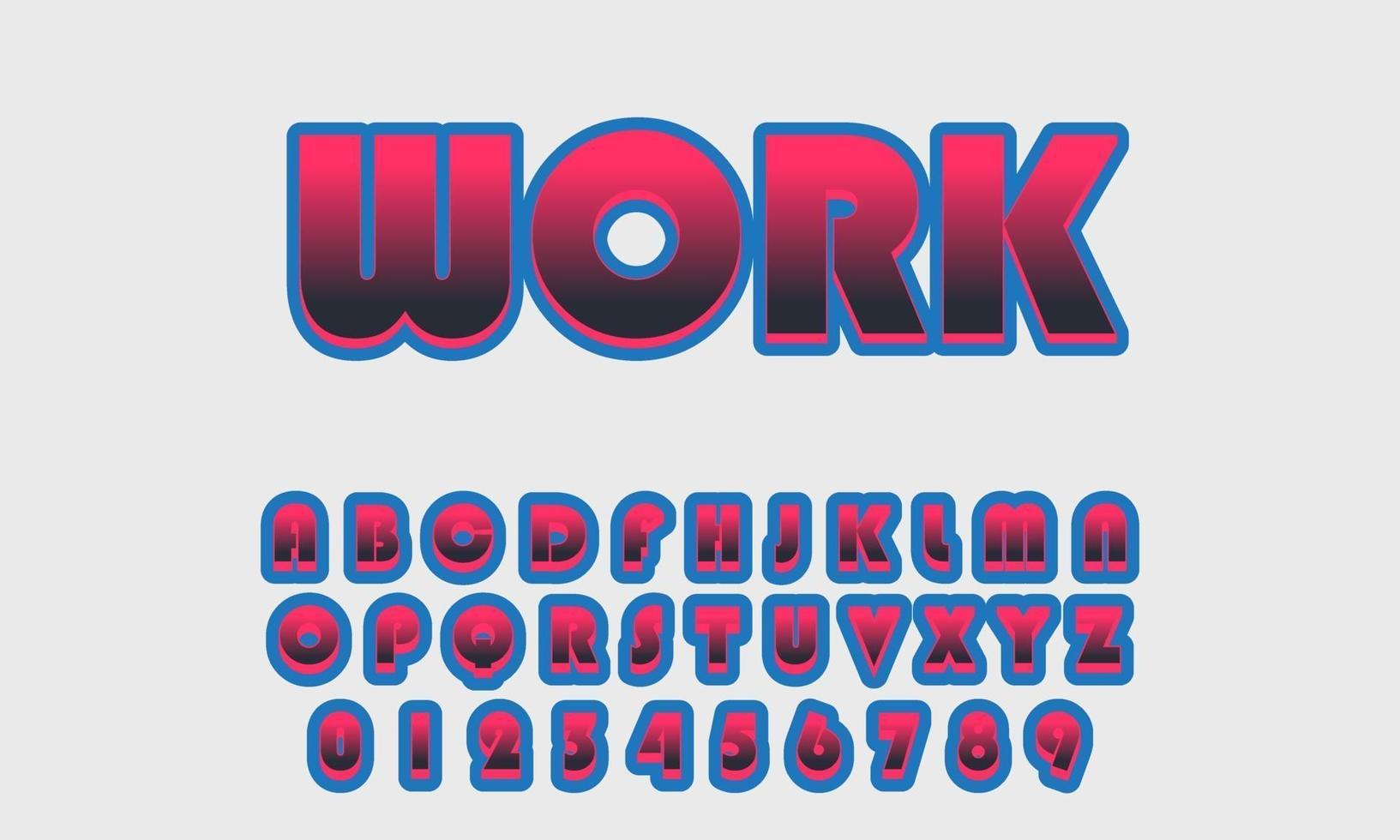 vettore di alfabeto dei caratteri stilizzati