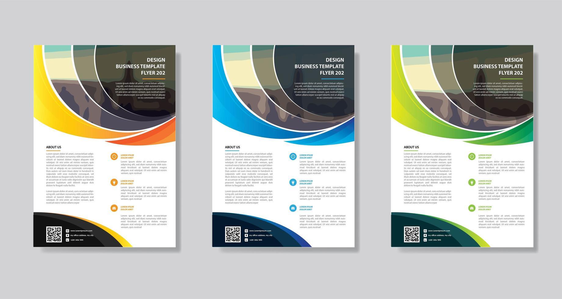 volantino modello di progettazione per la relazione annuale di layout di copertina vettore