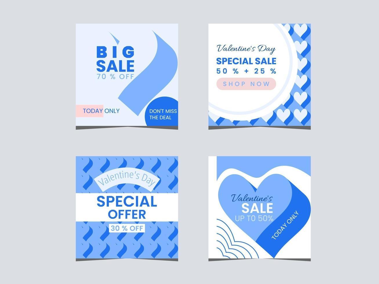 set di vendita di promozione di san valentino vettore