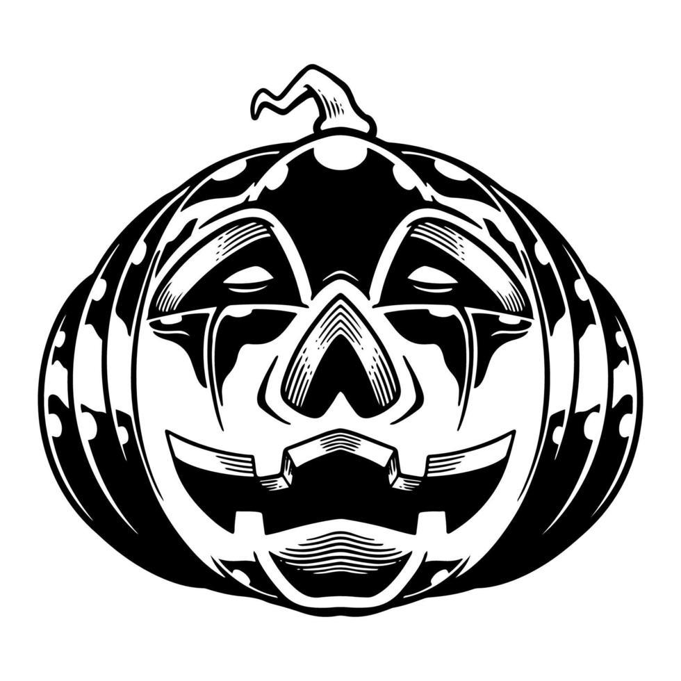 zucca per halloween. orrore halloween tipografia spaventoso t-shirt design modello sfondo poster. vettore