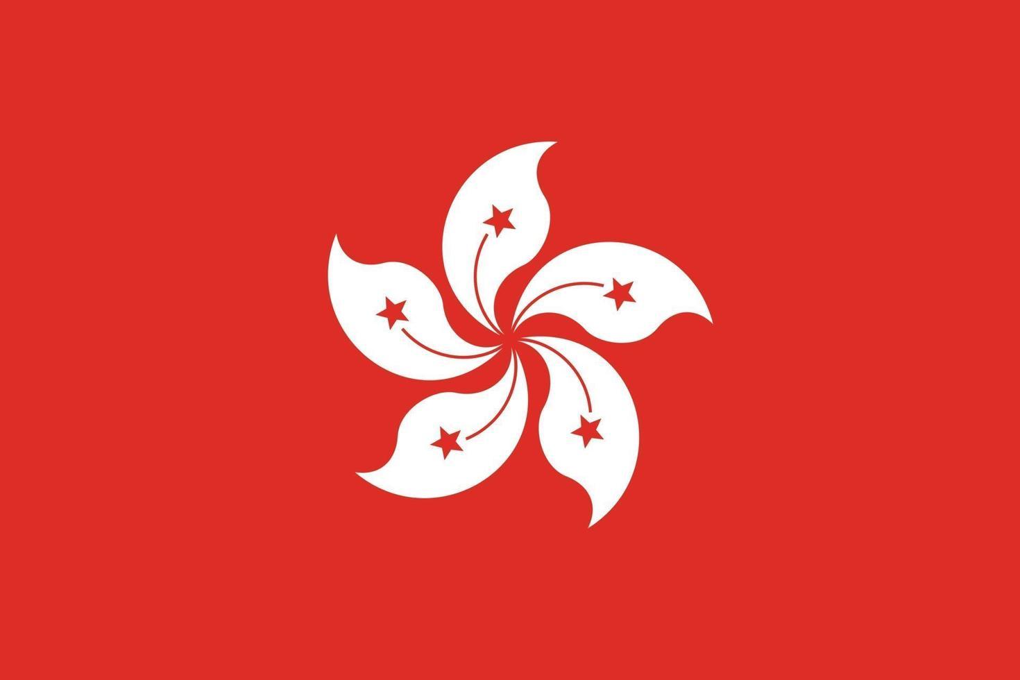 Hong kong bandiera vettore isolare banner stampa illustrazione