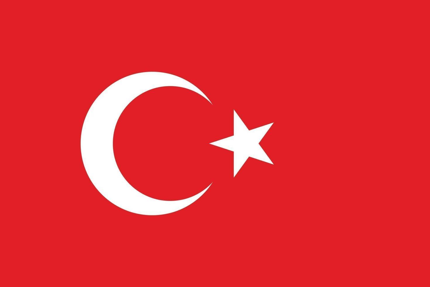 Turchia bandiera vettore isolare banner stampa piatta