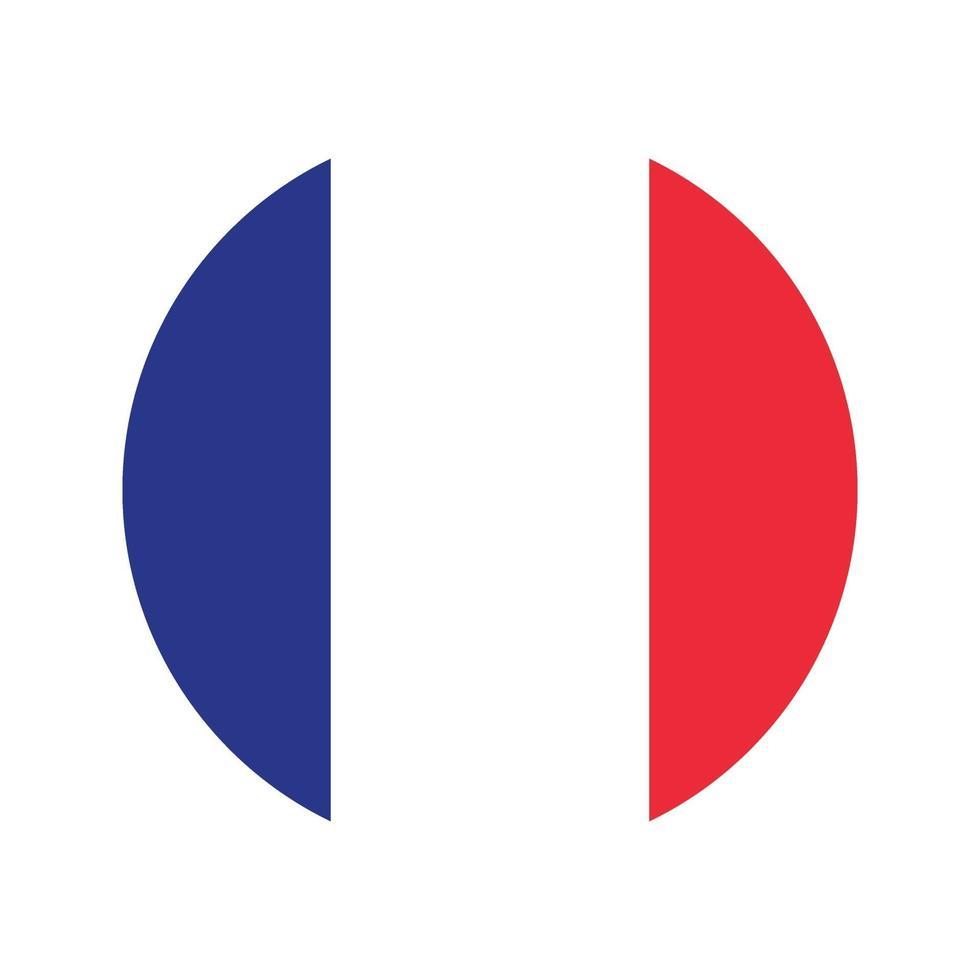 Francia bandiera icona vettore isolare illustrazione stampa