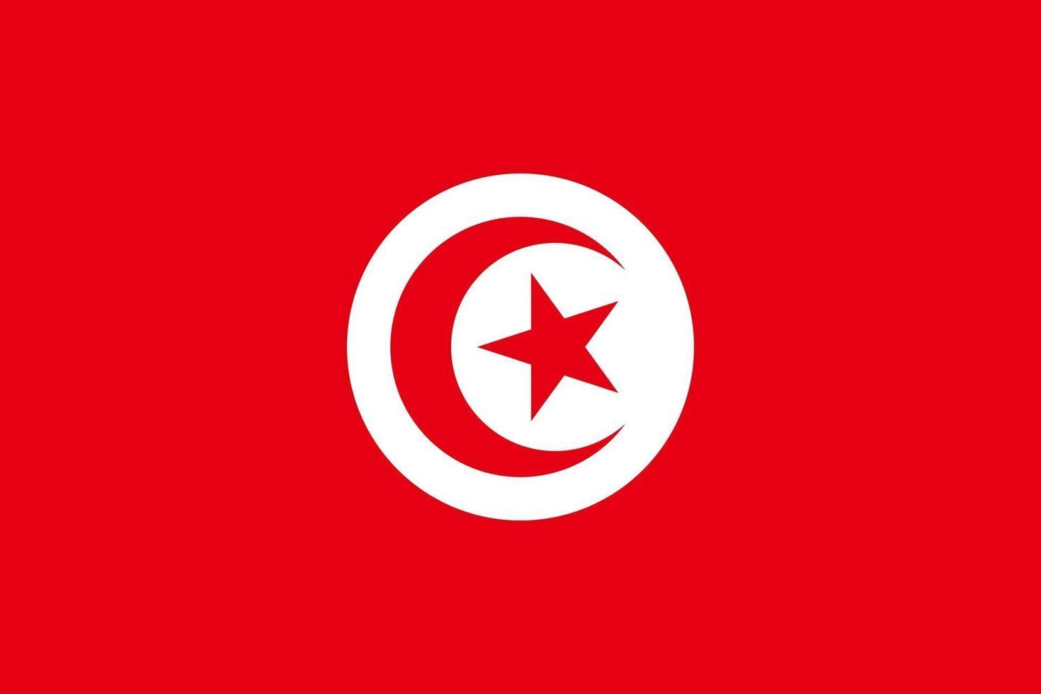 bandiera della tunisia vettore
