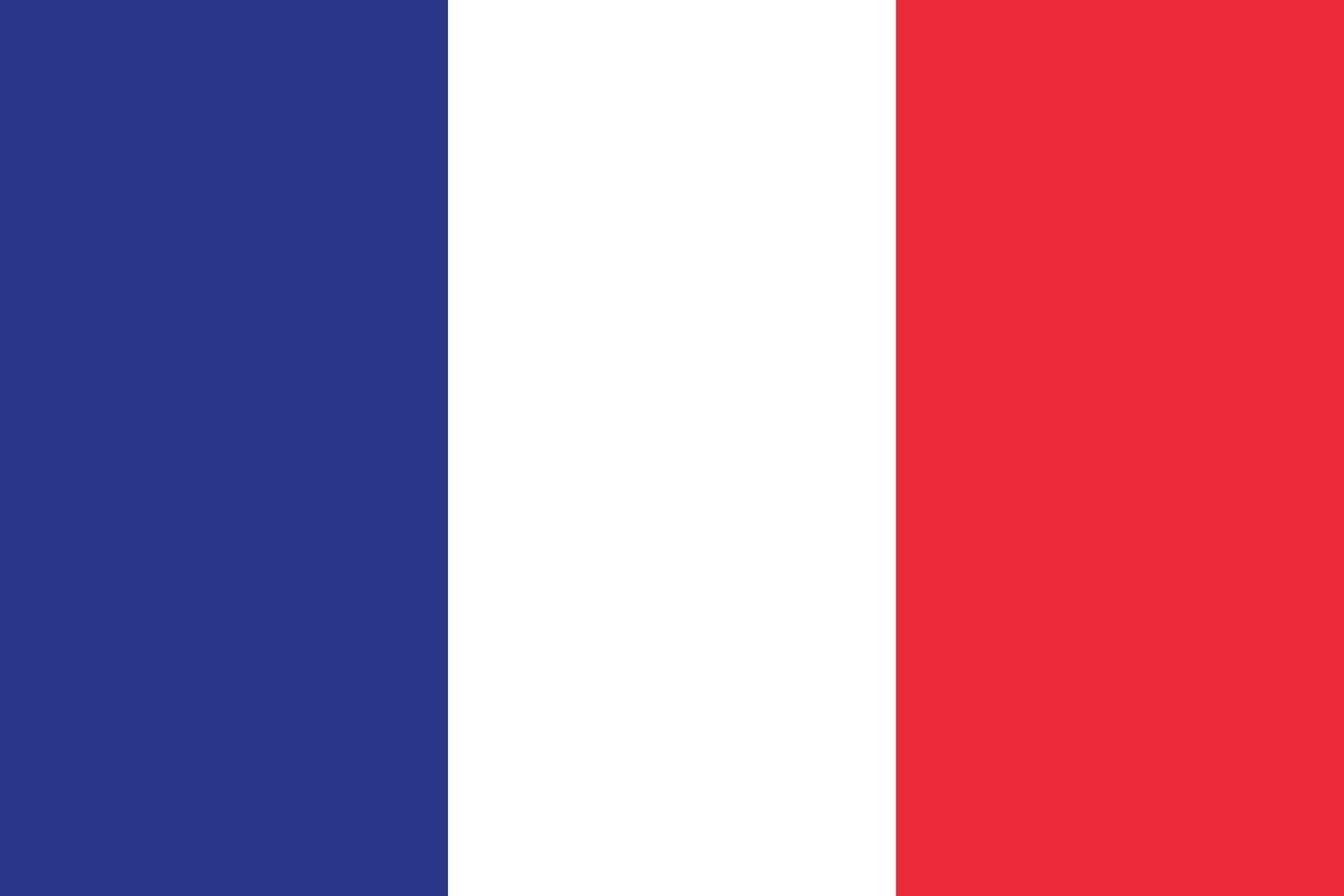Francia bandiera vettore isolare banner stampa illustrazione