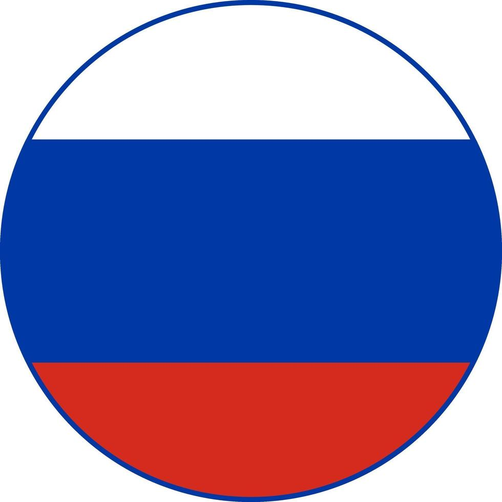 icona arrotondata della bandiera della federazione russa vettore