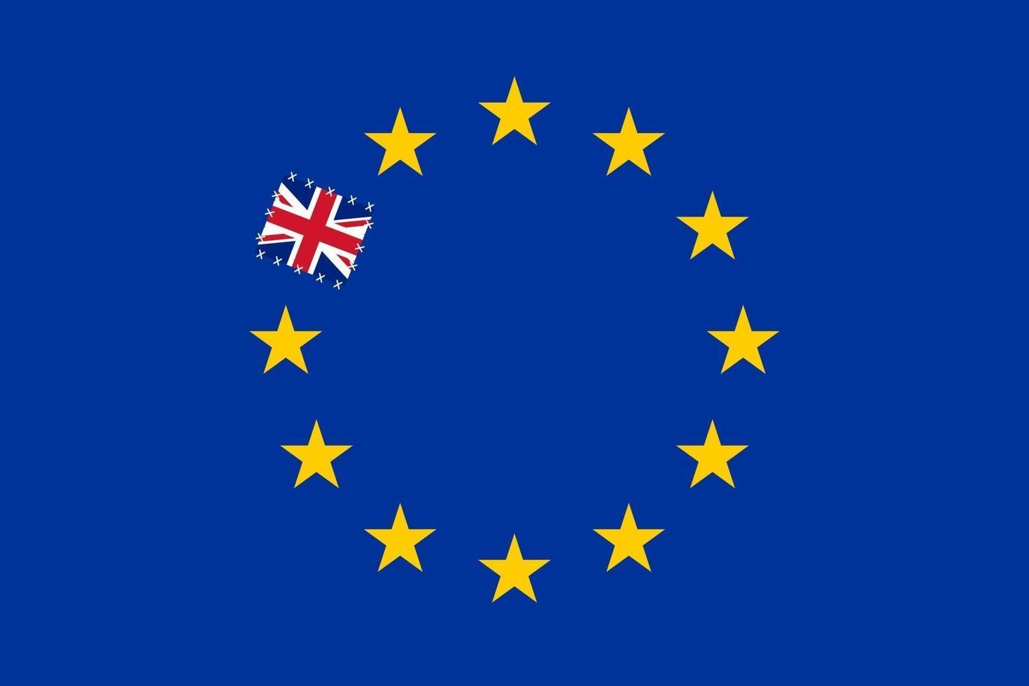 illustrazione della brexit vettore