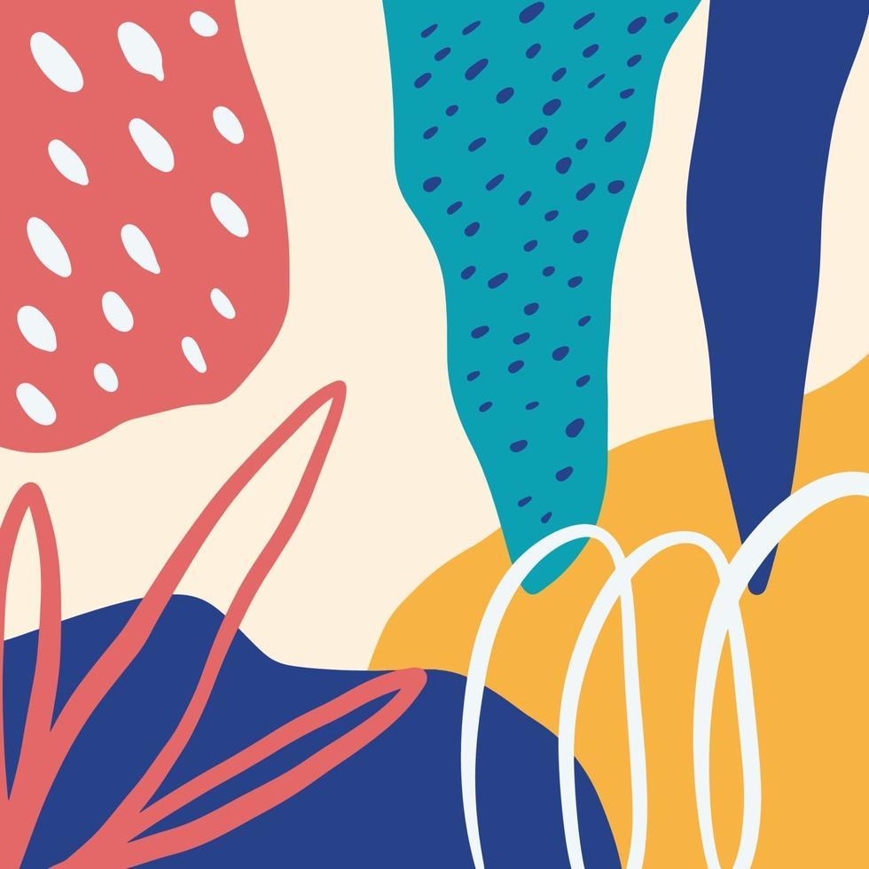 intestazione di arte di doodle creativo sfondo colorato astratto con diverse forme e trame vettore