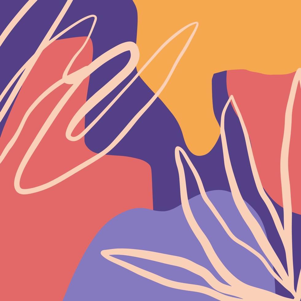 sfondo astratto con diverse forme e trame e colori arte moderna vettore