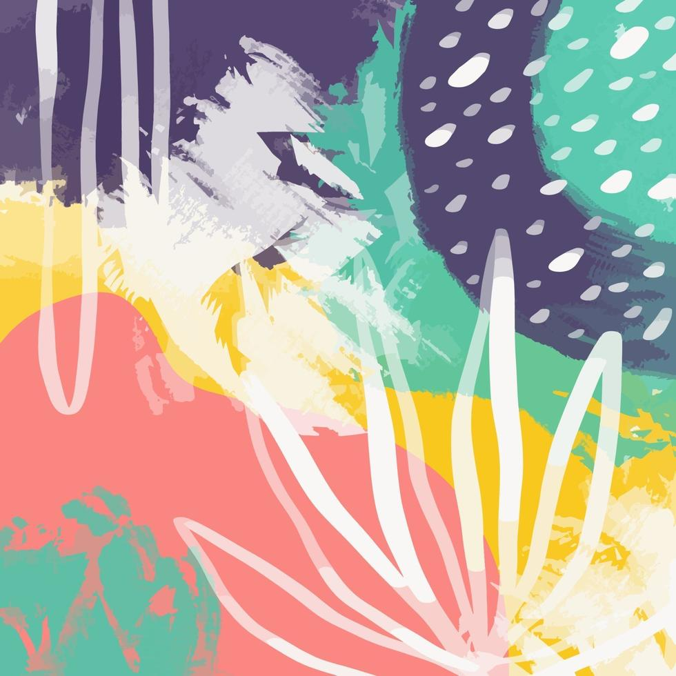 sfondo astratto doodle arte con diverse forme e trame vettore