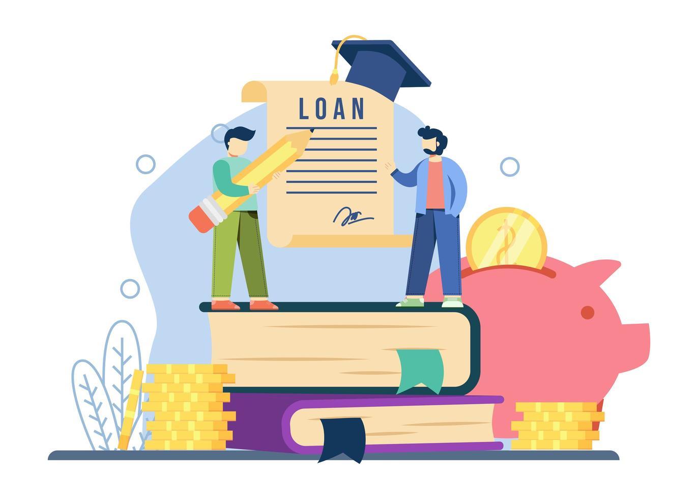 concetto di prestito studentesco vettore