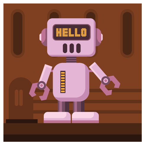 design del personaggio robot vettore