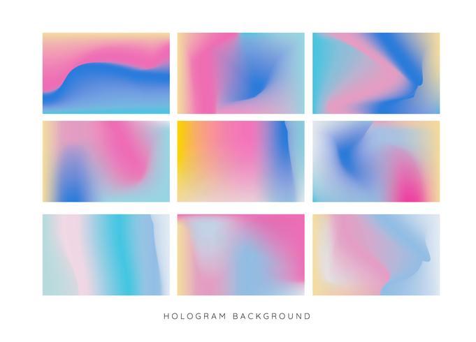 Vettore del fondo dell'ologramma dell'arcobaleno