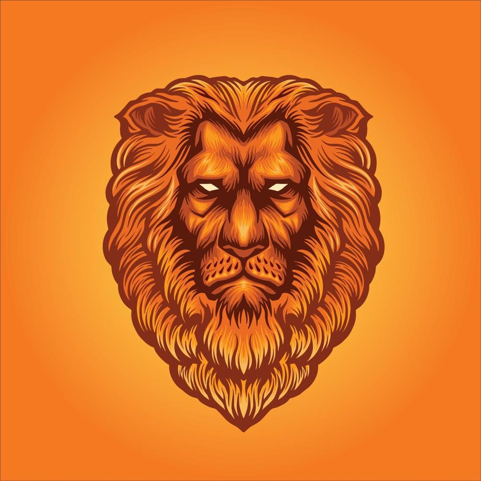 testa di leone mascotte vettore