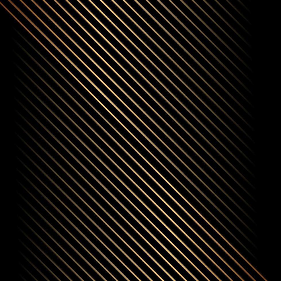 modello astratto linea diagonale oro su sfondo nero e texture. vettore