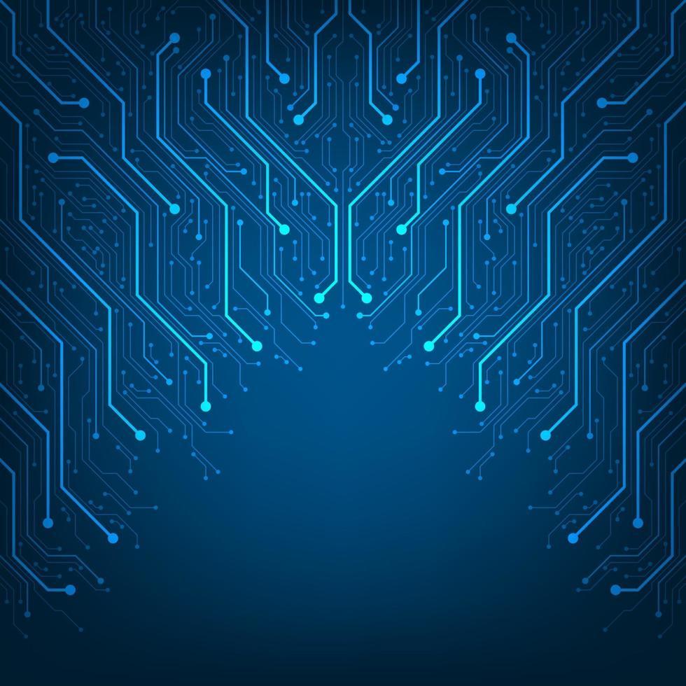 design nel concetto di circuiti elettronici. vettore