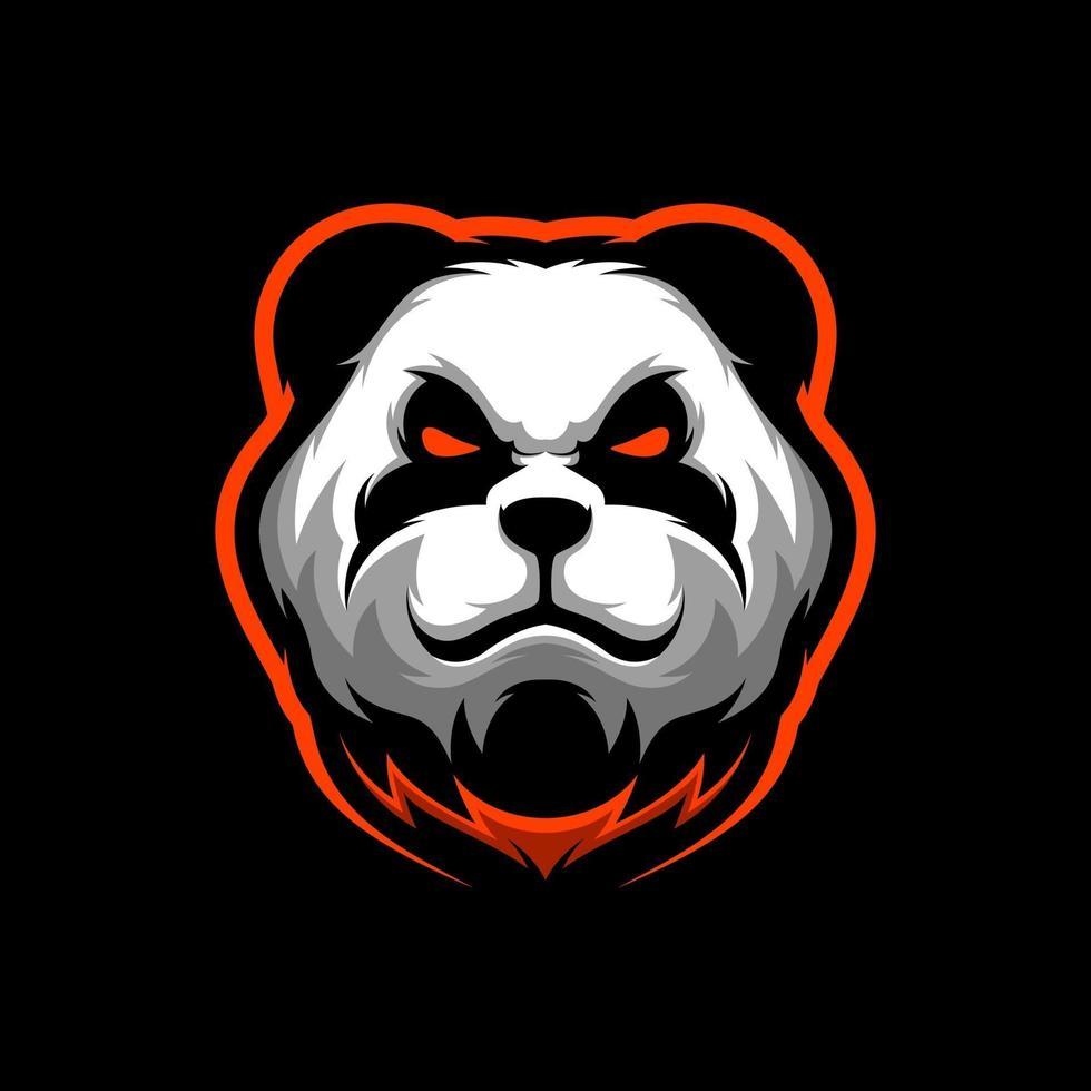 mascotte del panda arrabbiato vettore