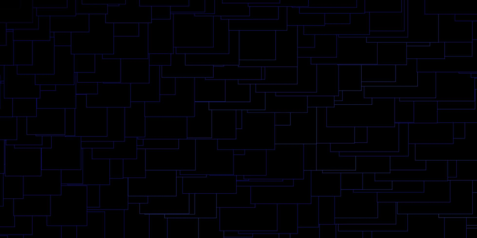 layout vettoriale blu scuro con linee, rettangoli.
