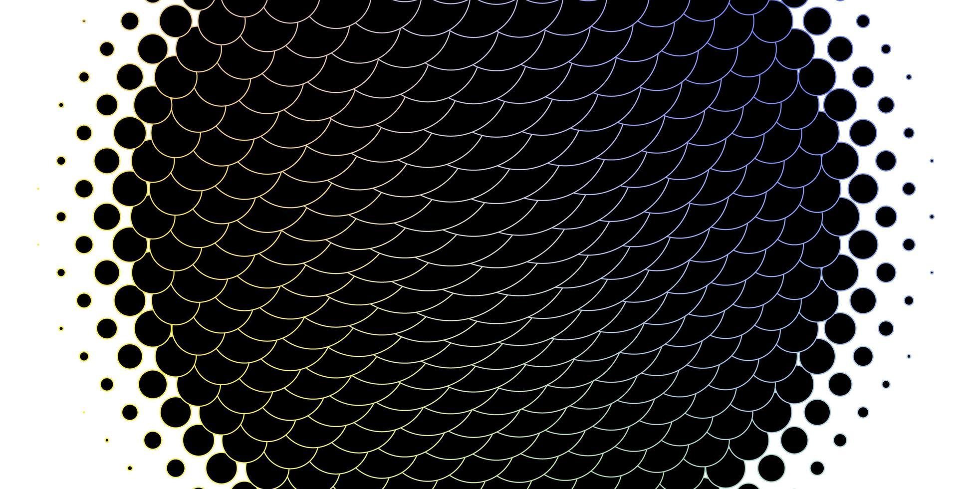 layout vettoriale multicolore chiaro con forme circolari.