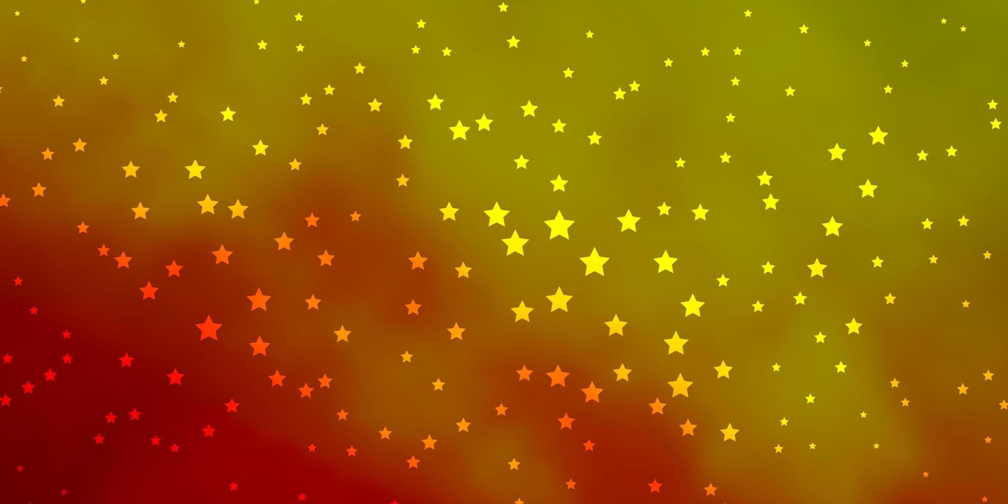 trama vettoriale verde scuro, rosso con bellissime stelle.