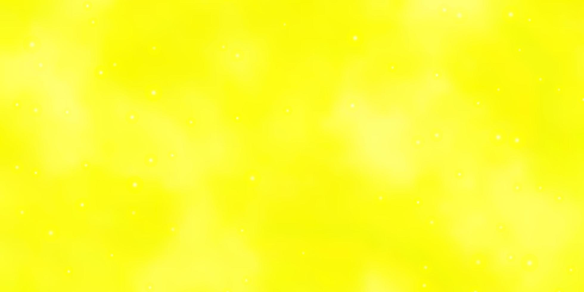layout vettoriale giallo chiaro con stelle luminose.