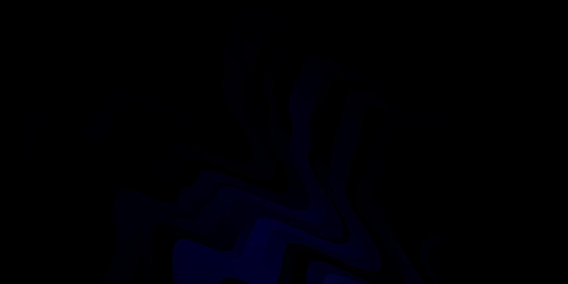 modello vettoriale blu scuro con linee curve.