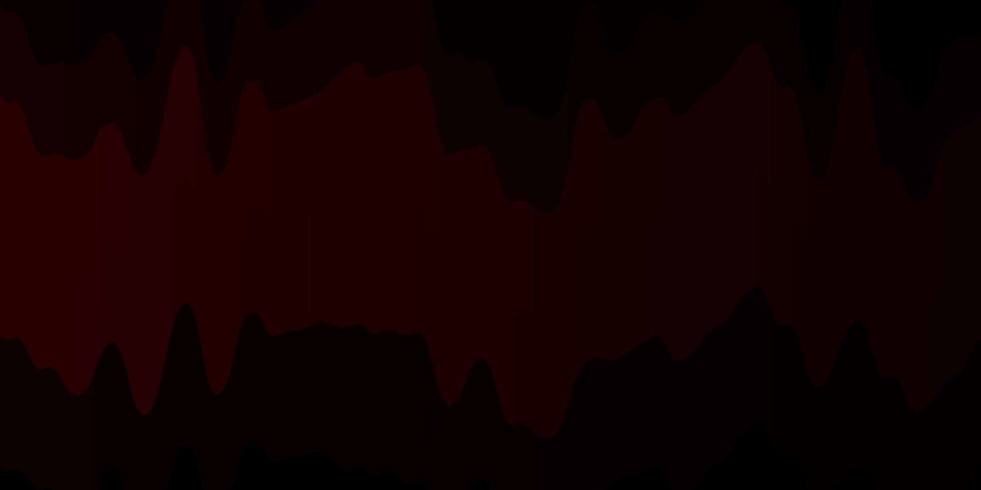 sfondo vettoriale rosso scuro con curve.
