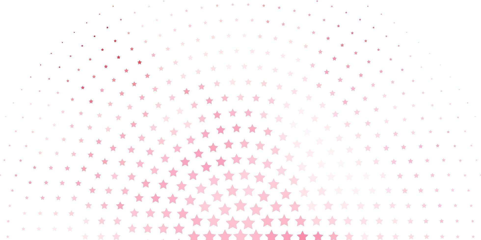 trama vettoriale rosso chiaro con bellissime stelle.