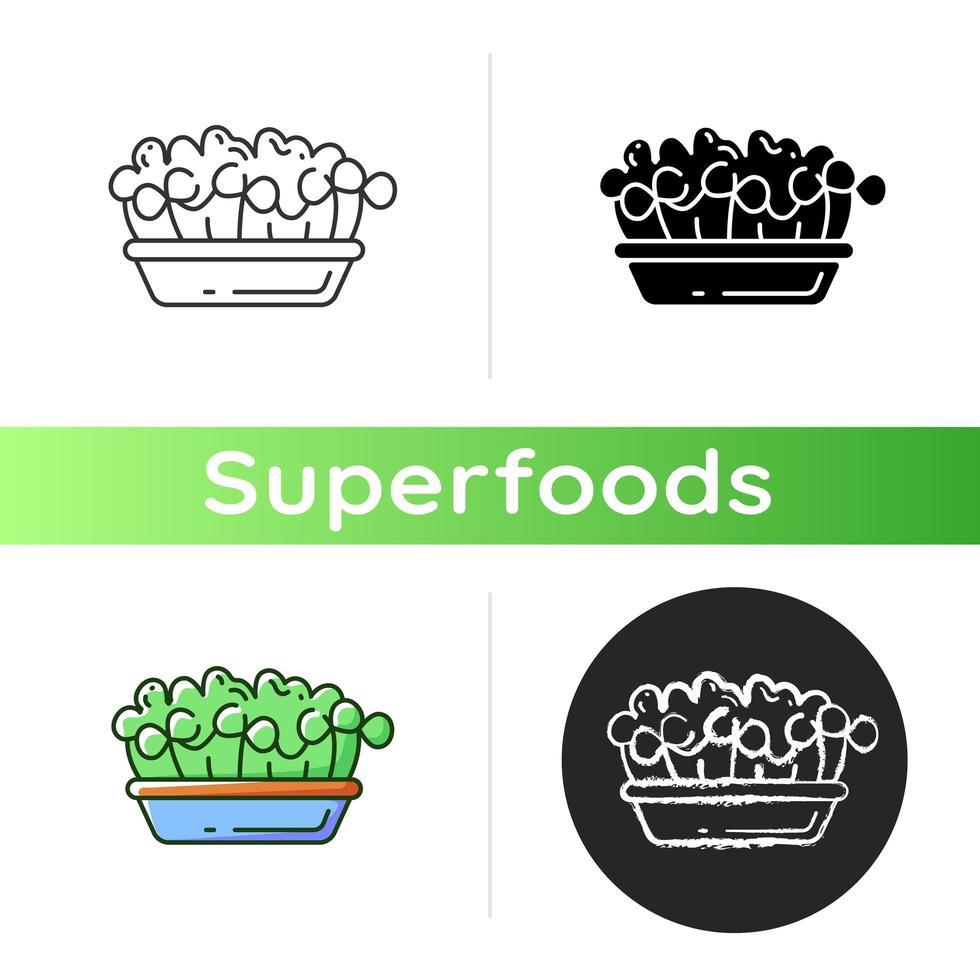 icona di alimenti microgreens vettore