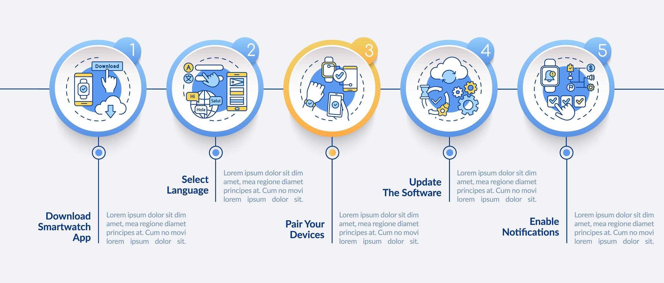 modello di infografica vettore installazione smartwatch