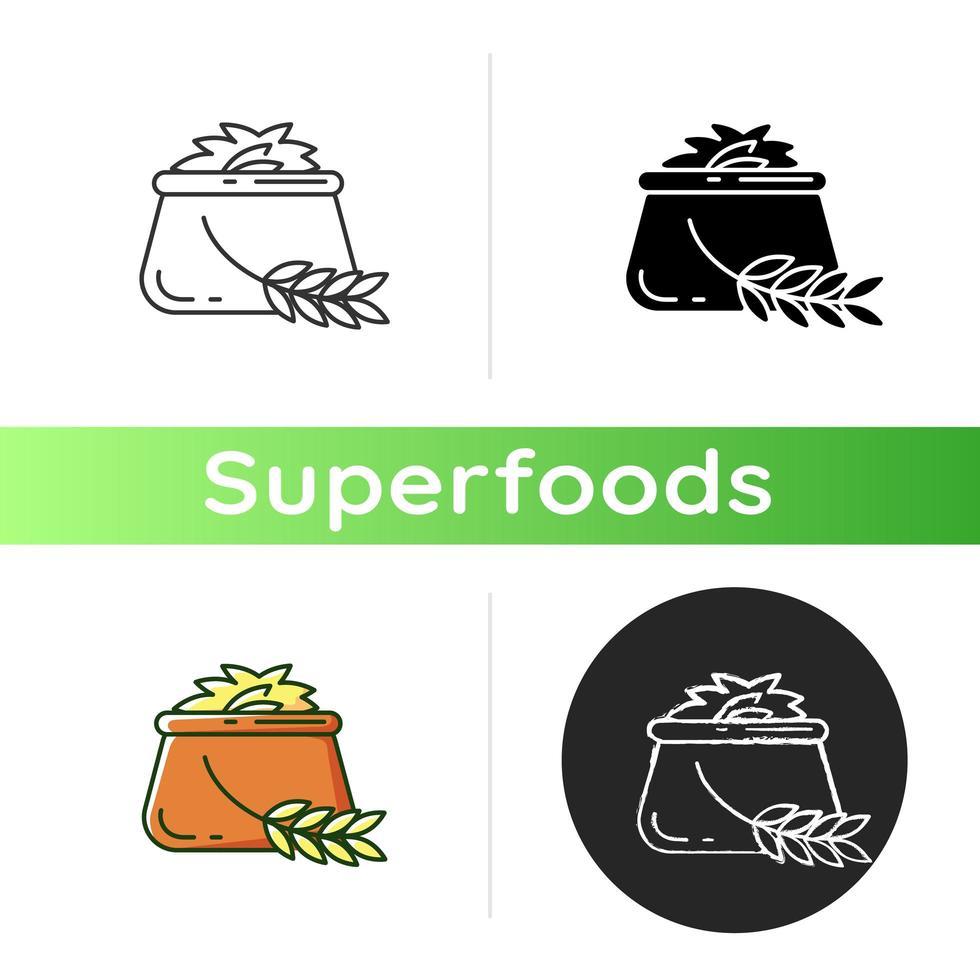 icona di cibo di orzo vettore