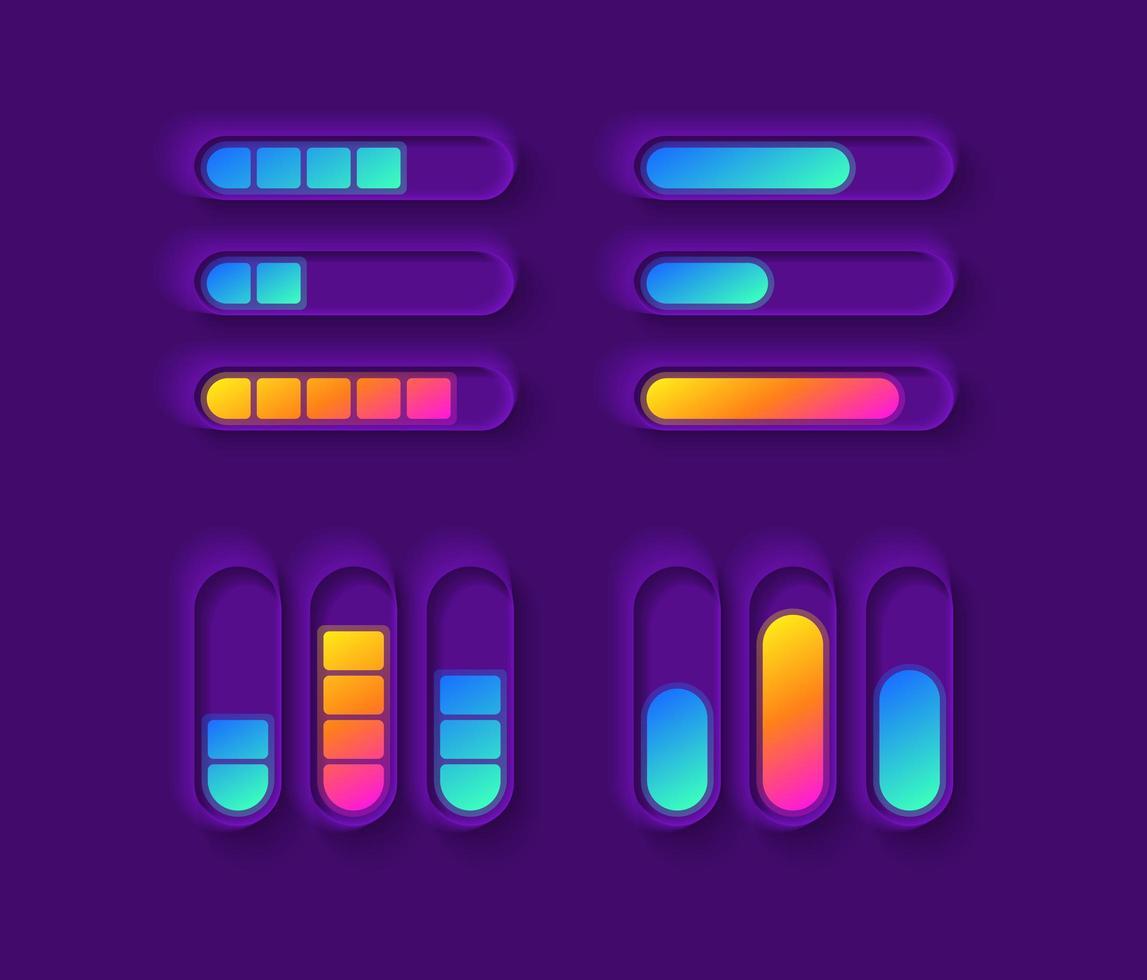 kit di elementi dell'interfaccia utente del misuratore di potenza vettore