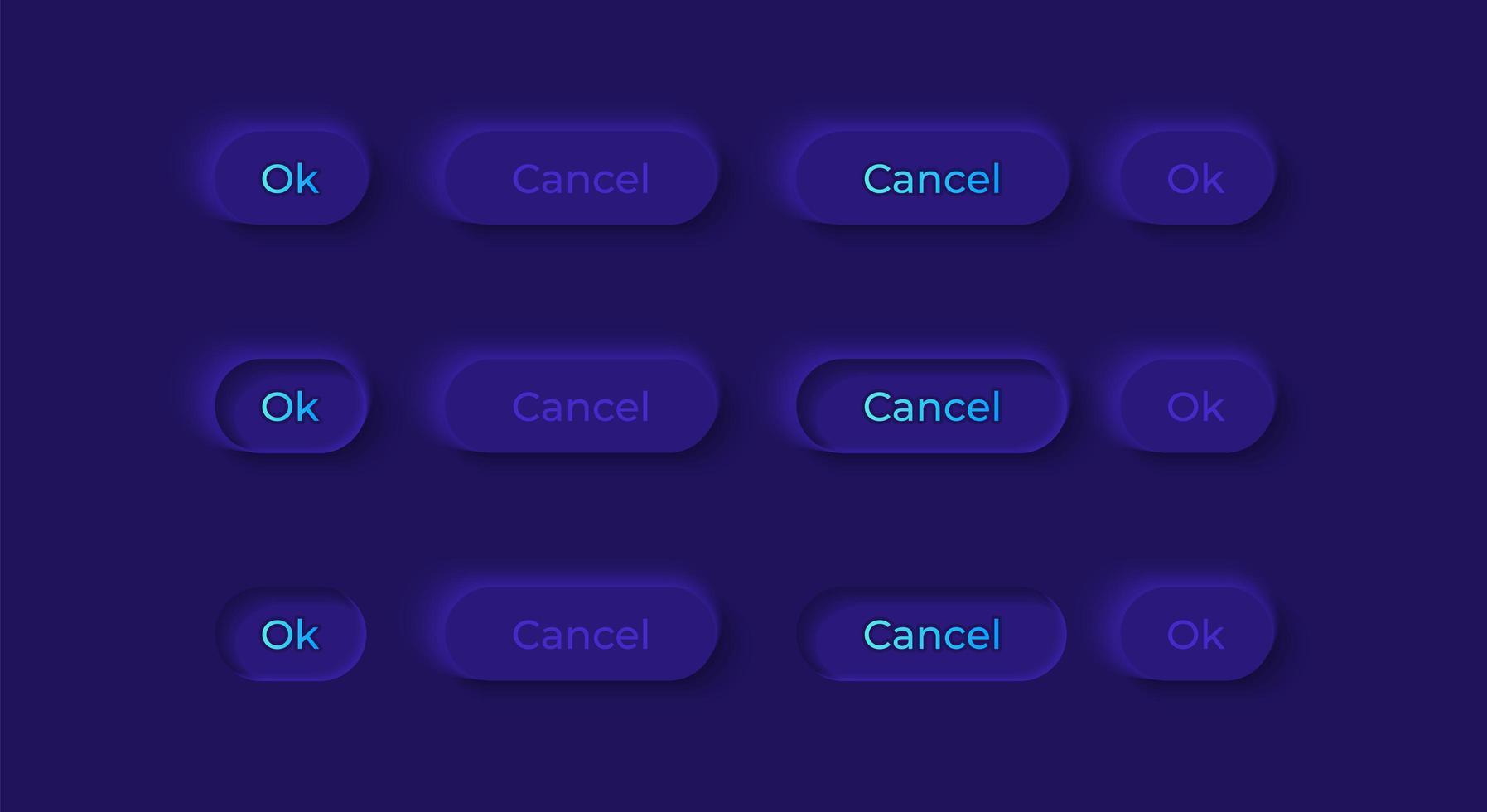pulsanti di opzione kit di elementi dell'interfaccia utente vettore