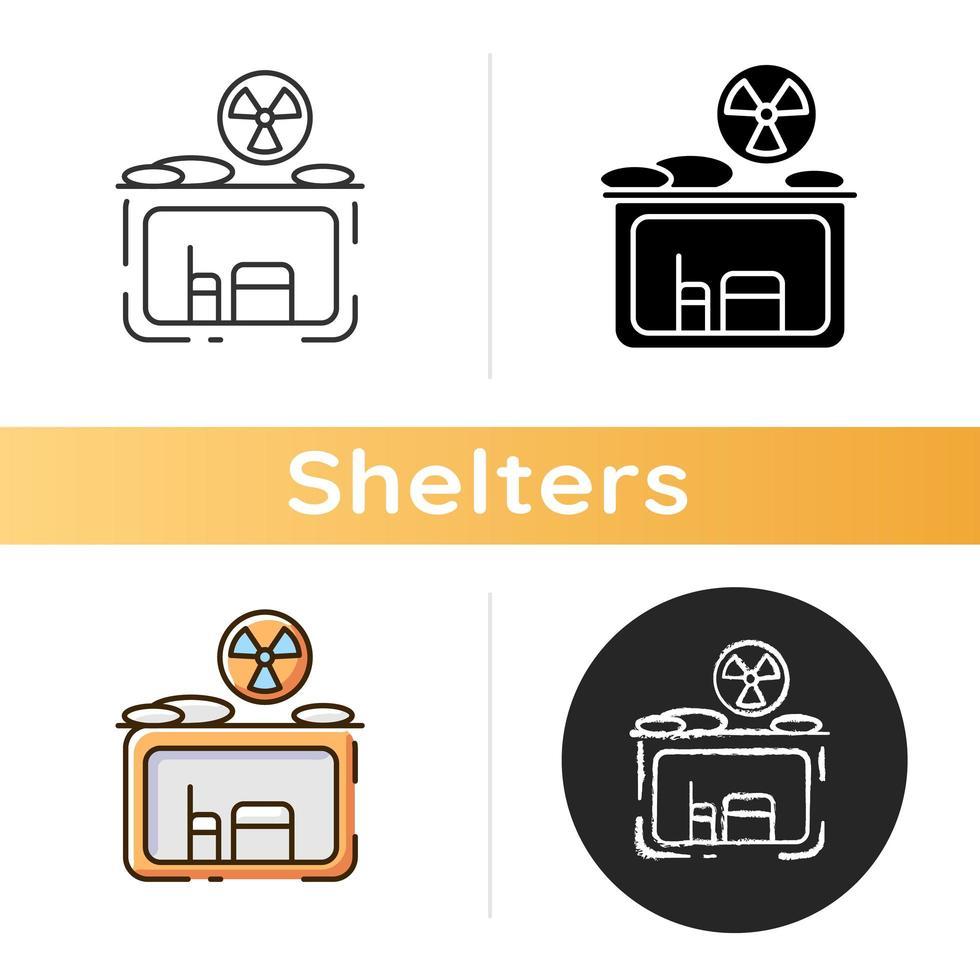 icona di rifugio antiatomico vettore