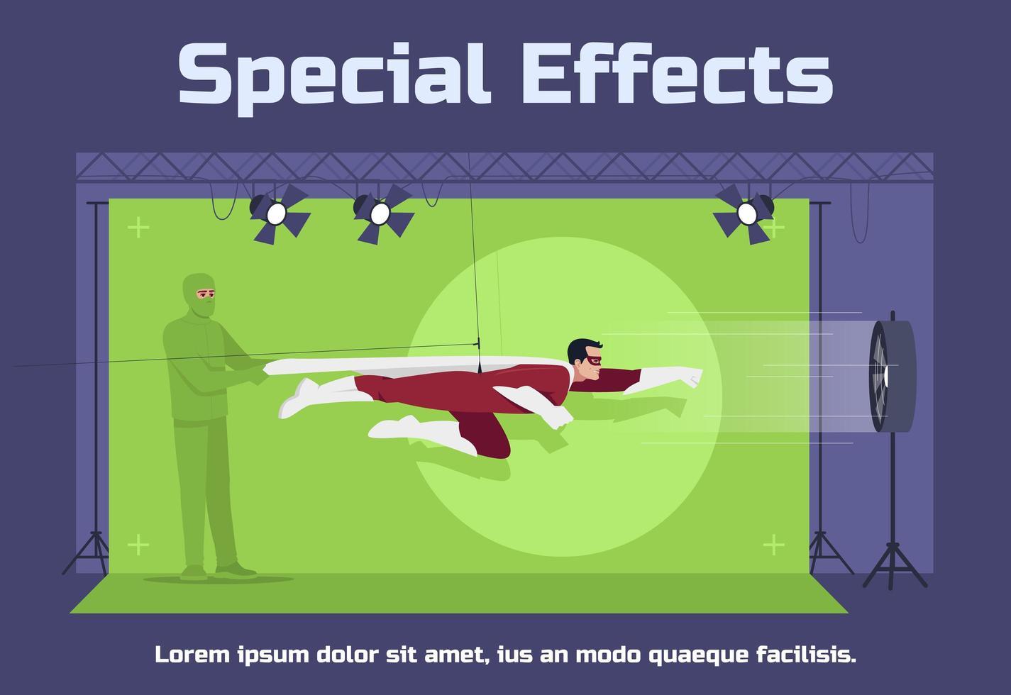 modello di poster sociale di effetti speciali vettore