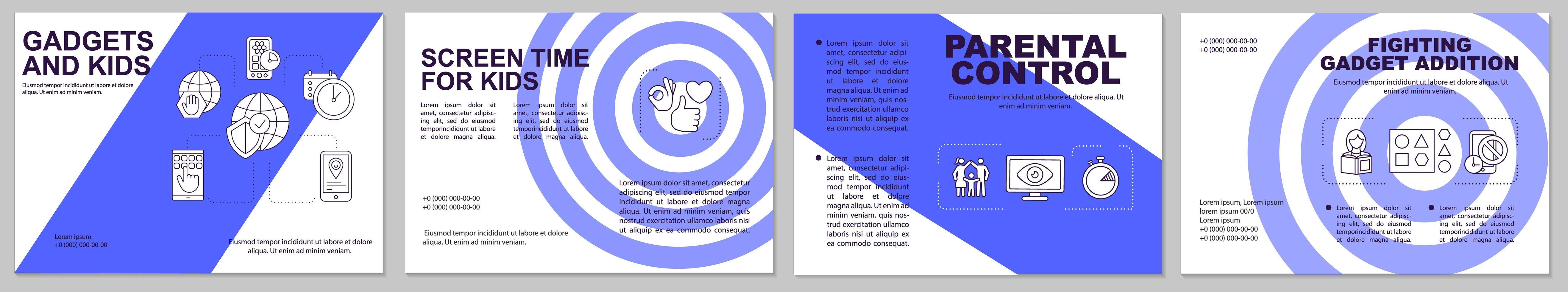 modello di brochure per il controllo parentale vettore