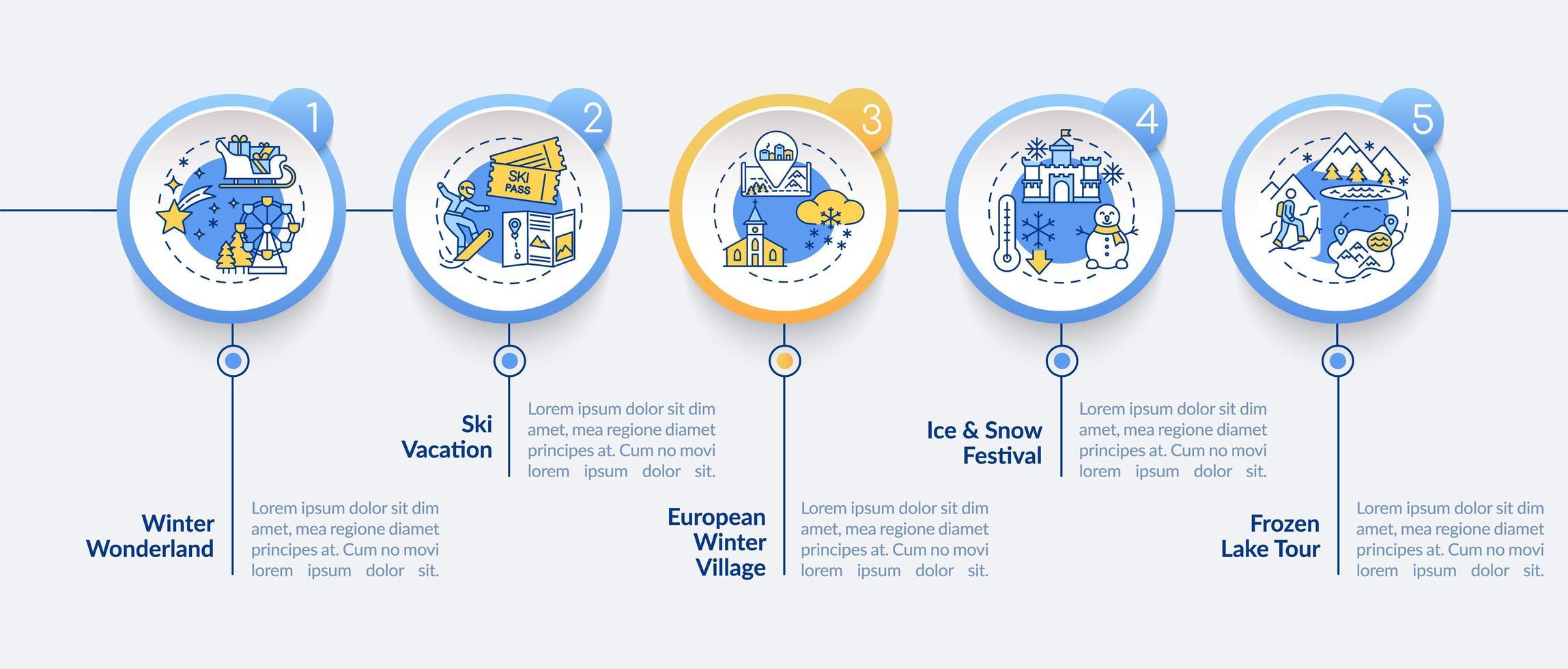 modello di infografica vacanza invernale vettore