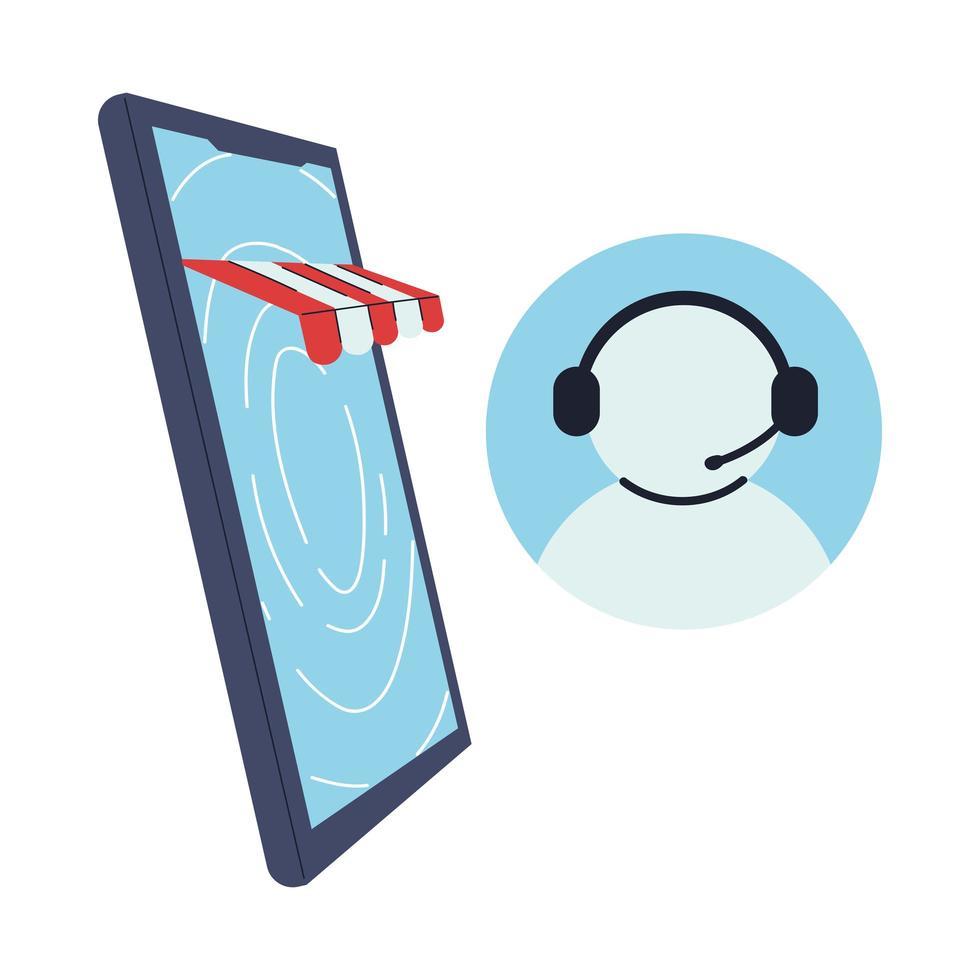 call center con negozio virtuale vettore