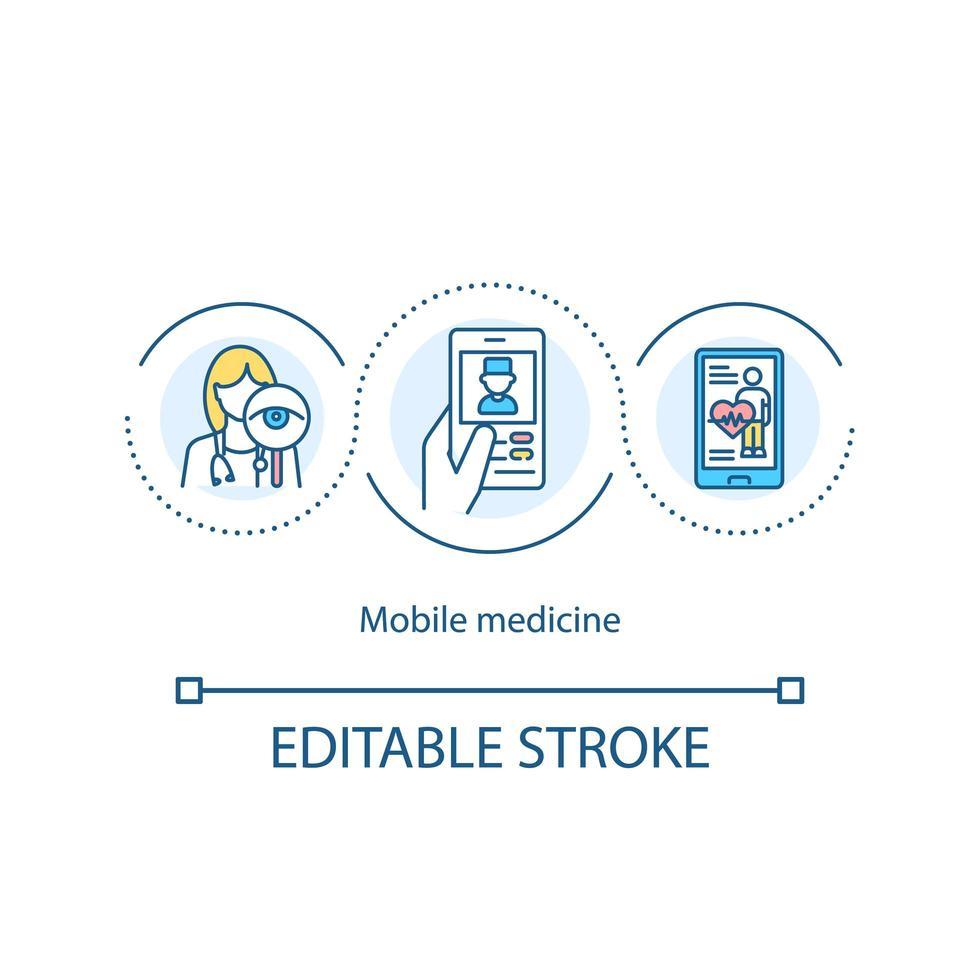 icona del concetto di medicina mobile vettore