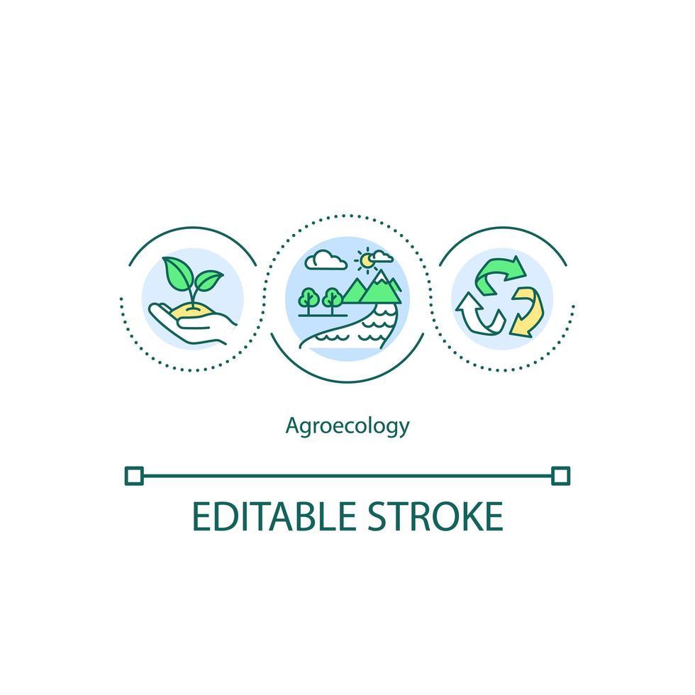 icona del concetto di agroecologia vettore