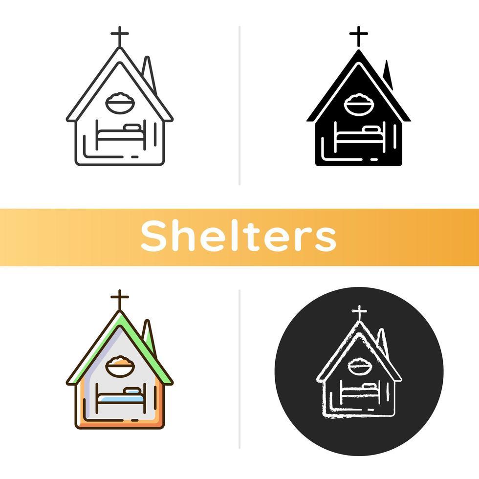 icona di rifugio religioso vettore