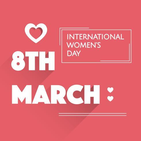 Vettore piatto giorno internazionale della donna