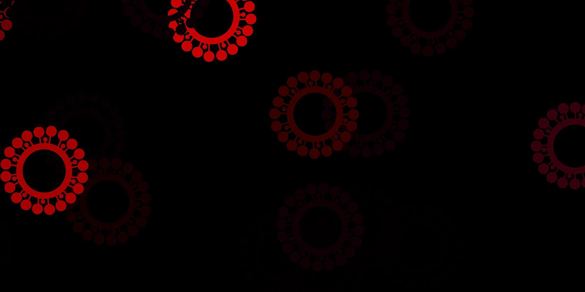 trama vettoriale rosa scuro con simboli di malattia.