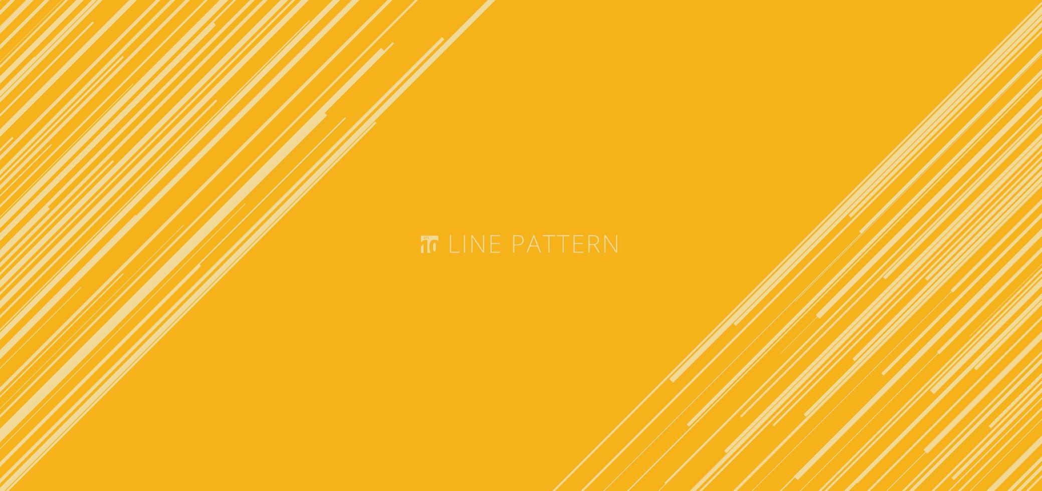 modello di banner web astratto modello di linee di velocità diagonale giallo chiaro su sfondo giallo e texture. vettore