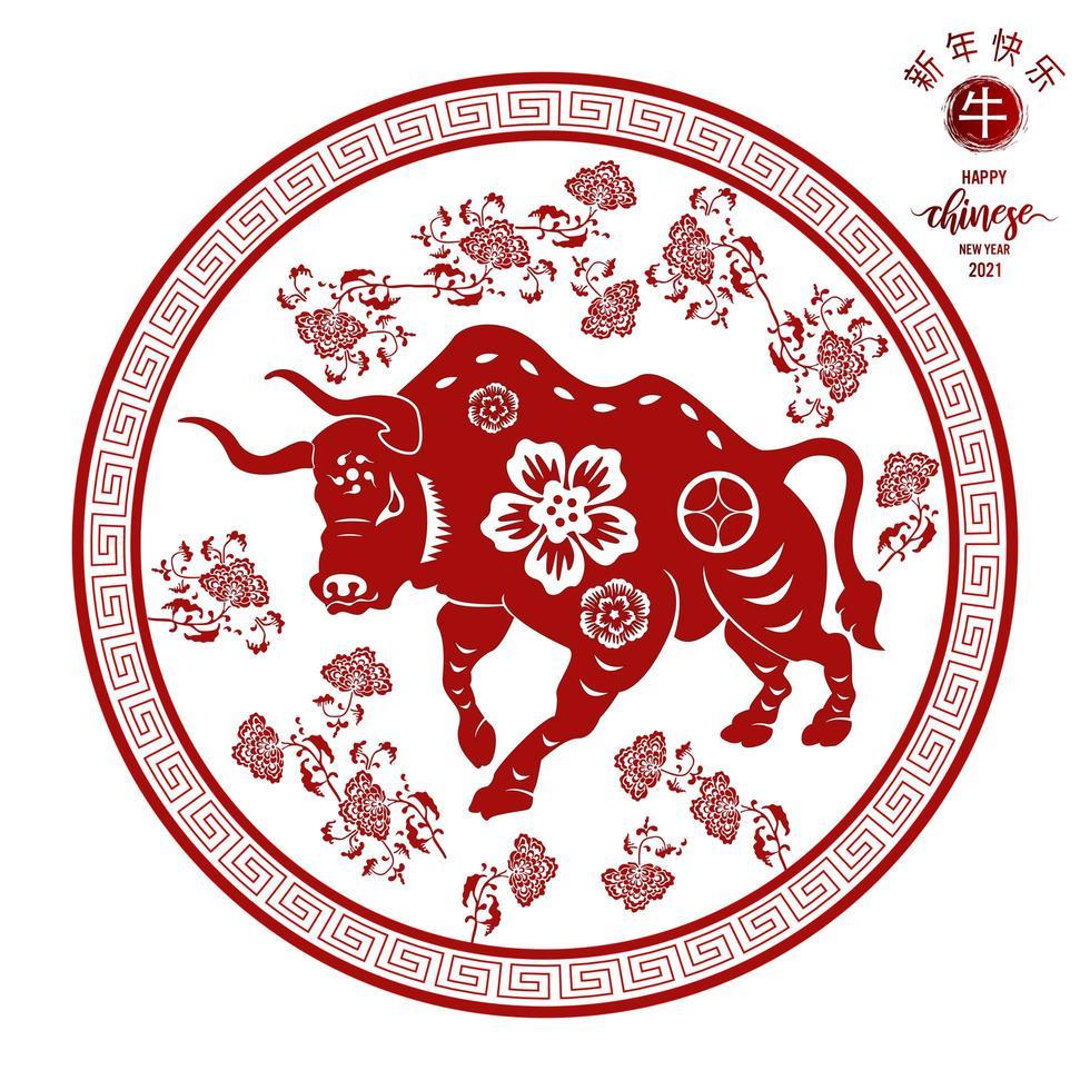 modello tradizionale cinese di felice anno nuovo cinese vettore