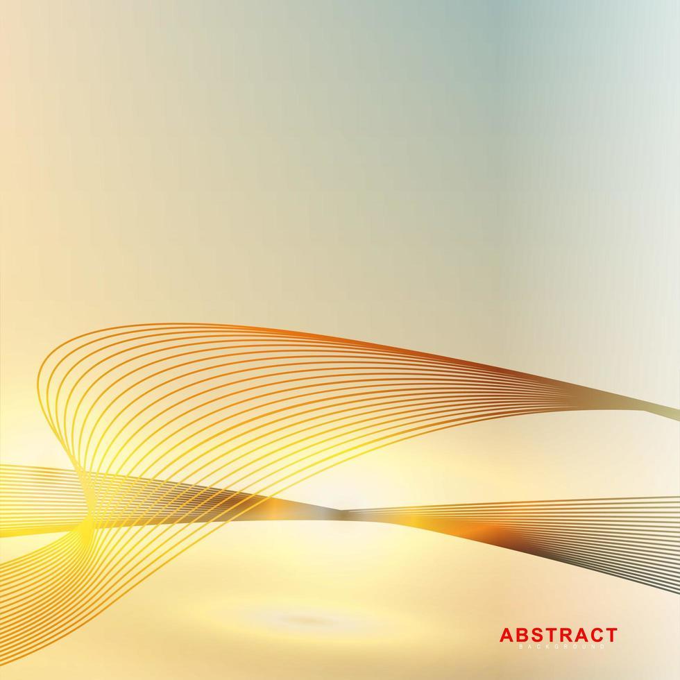 linee dorate onde sfondo tecnologico vettore