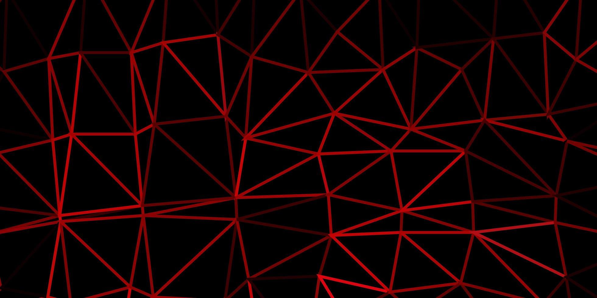 modello di triangolo poli vettoriale rosa scuro, rosso.