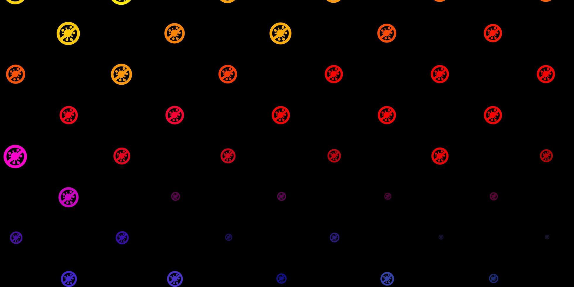 trama vettoriale rosa scuro, giallo con simboli di malattia.