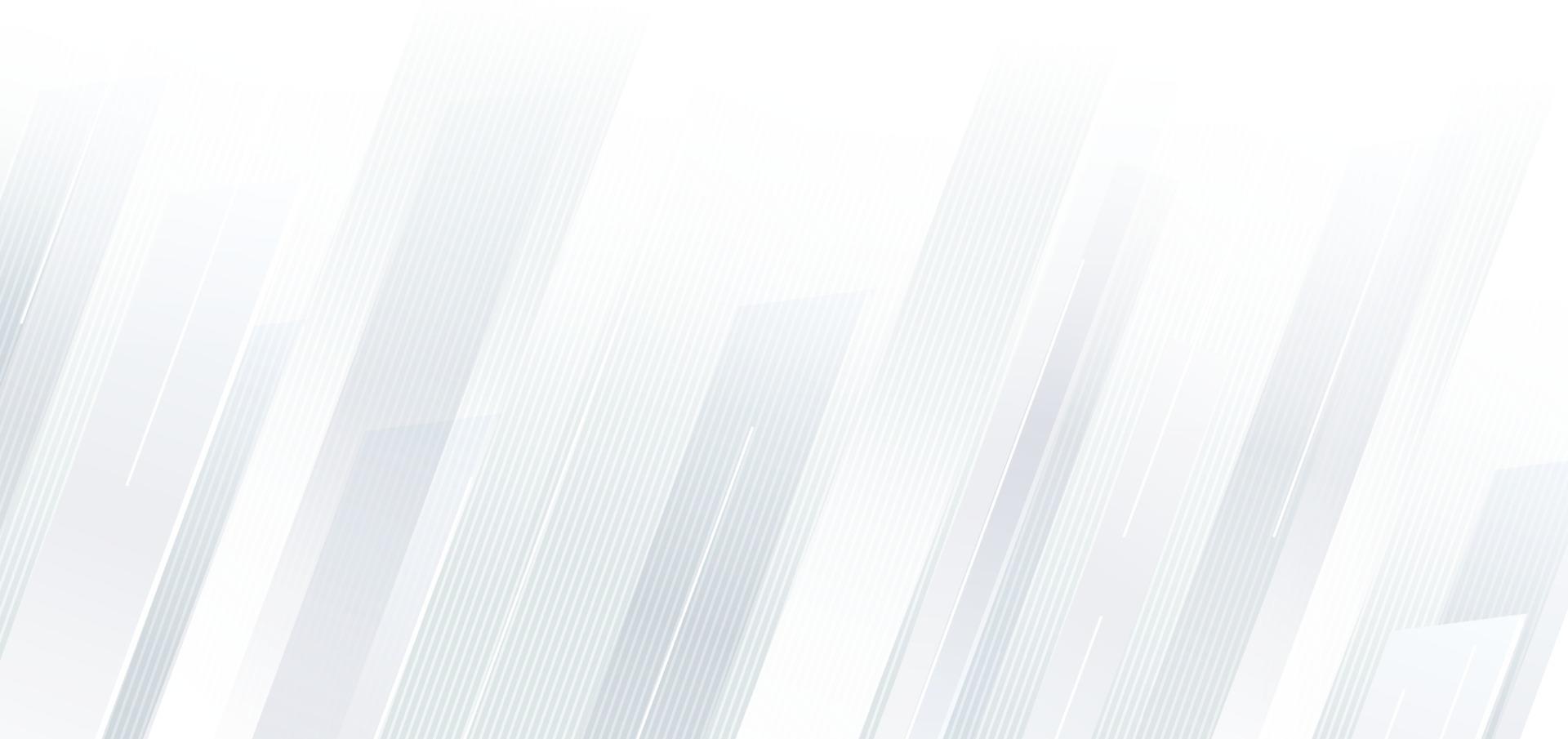 sfondo geometrico astratto linee diagonali bianche e grigie. vettore