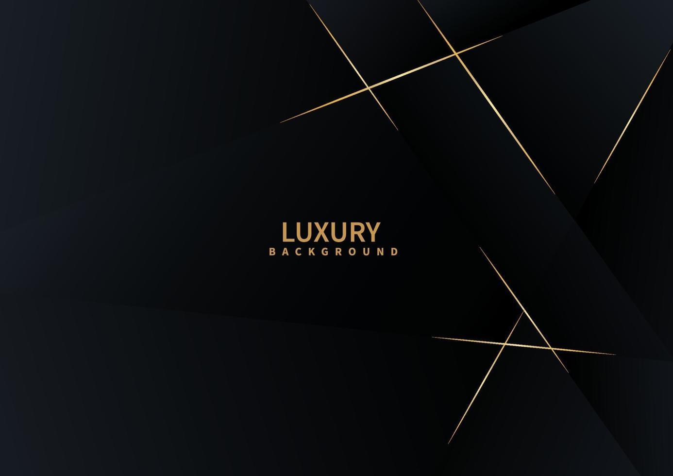 triangolo astratto sfondo scuro con lusso linea dorata. vettore